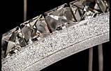 Современная подвесная люстра хрустальные кольца 2245, фото 3