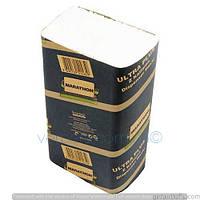 Бумажные полотенца листовые, белые, Z-укладка, Marathon Ultra 9655017