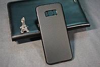 Чехол бампер карбон силиконовый Samsung Galaxy S8+ S8 PLUS G955F Carbon цвет черный