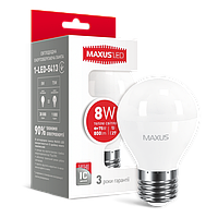 Светодиодная лампа 6W G45 Е27 MAXUS 3000К/4100К