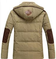 Зимняя мужская куртка с капюшоном. Модель 6136, фото 5