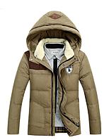 Зимняя мужская куртка с капюшоном. Модель 6136, фото 4