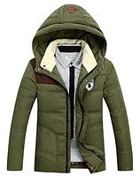 Зимняя мужская куртка с капюшоном. Модель 6136, фото 2