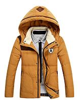 Зимняя мужская куртка с капюшоном. Модель 6136, фото 3