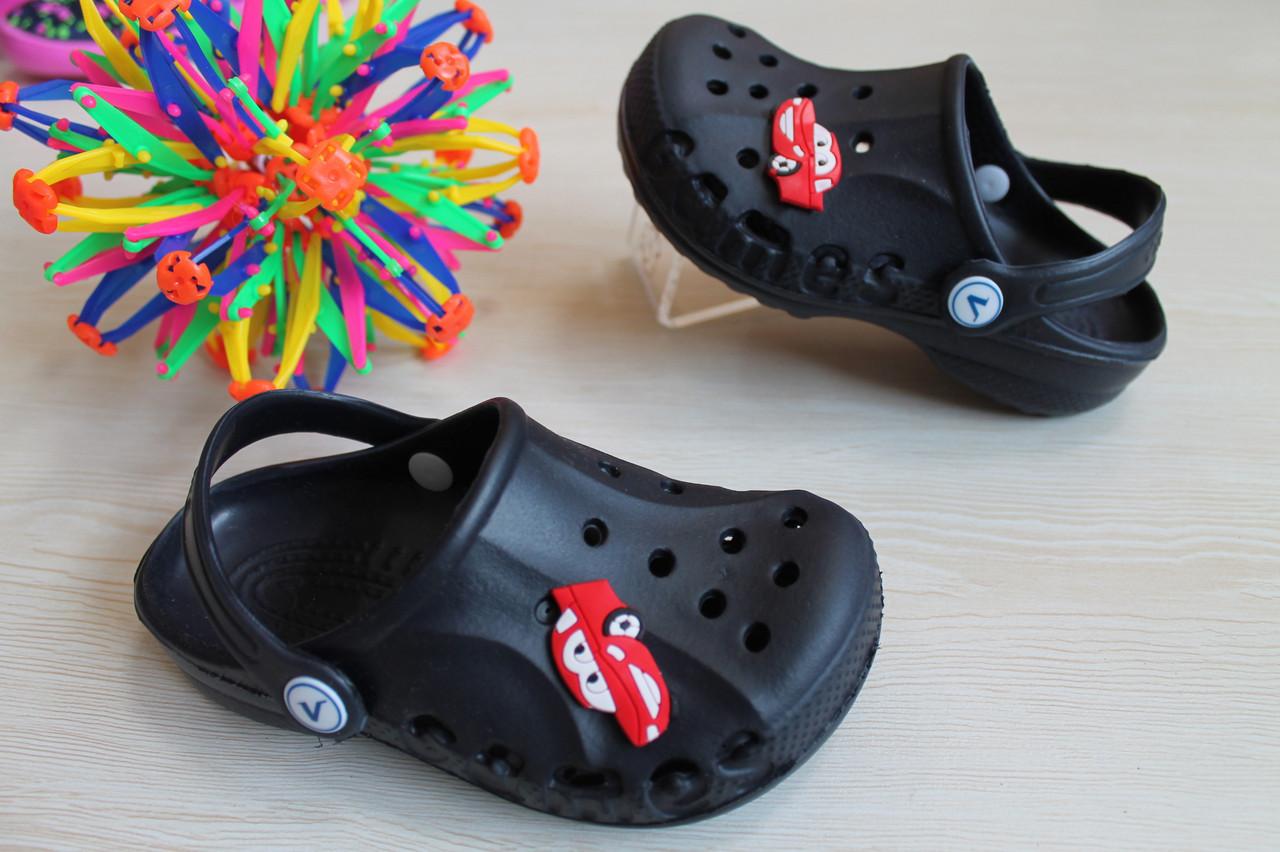 Синие кроксы оптом детская летняя обувь тм Виталия Crocs ростовка 20-35 - BonKids - детский магазин обуви в Киеве