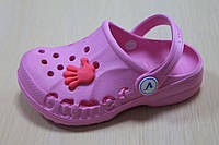 Детские розовые кроксы обувь для пляжа оптом Виталия Украина р. 20-35