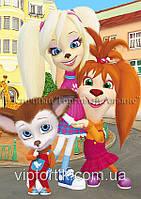 Друк їстівного фото - А4 - Вафельна папір - Роза, Ліза і Малюк