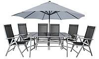 Алюминиевая мебель для сада, дачи, террасы. Комплект : стол и 6 кресел.