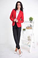 Стильный женский пиджак красного цвета