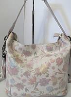 Женская кожаная сумка прекрасного дизайна с рисунком цветов