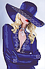 Схема вышивки бисером Девушка блонд (индиго)