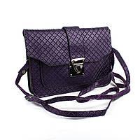 Сумочка-клатч с тиснением Фиолетовая