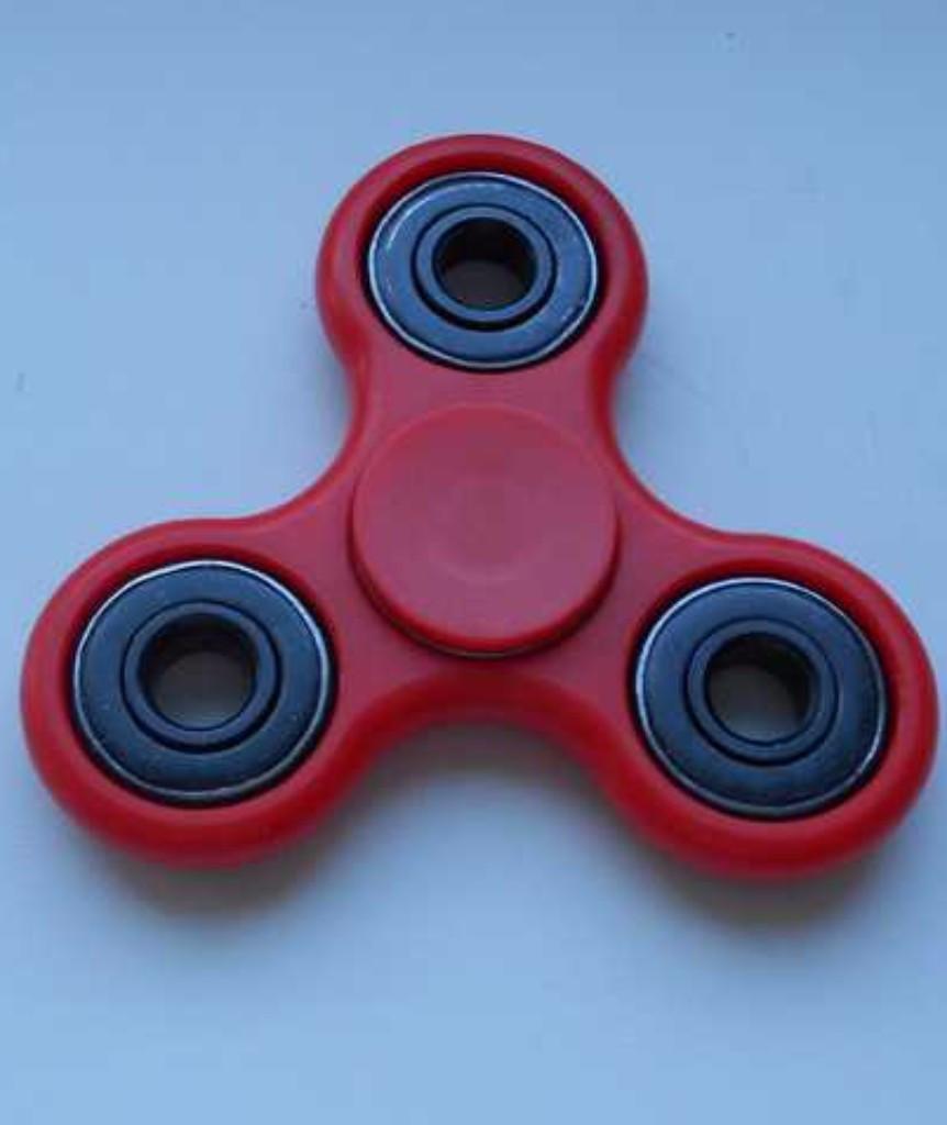 Игрушка антистресс спиннер, спинер с 4 подшипниками классика красный