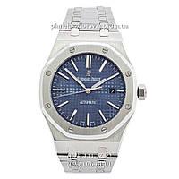 Мужские механические наручные часы Audemars Piguet Royal Oak Selfwinding Silver-Blue