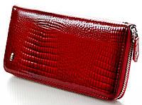 Женский кожаный кошелек клатч на молнии ST New премиум