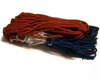 Сетка баскетбольная BK888 (нейлон,12 петель, яч. р-р 7x7см,цвет бело-красно-синий, в компл. 2 шт.)