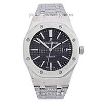 Мужские механические наручные часы Audemars Piguet Royal Oak Selfwinding Silver-Black