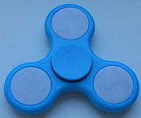 Игрушка антистресс спиннер, спинер с 3 режимами подсветки голубой