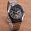 Механические часы с автоподзаводом Forsining (black) - гарантия 12 месяцев, фото 8