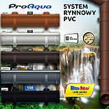 ProAqua 125 желоб 8017 PVC водосточная система отвода дождевой воды., фото 2