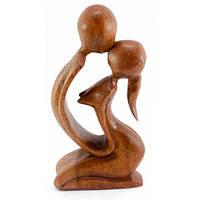 Фигурка Влюбленные декоративная дерево