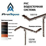 ProAqua 125 желоб 8017 PVC водосточная система отвода дождевой воды., фото 4