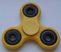 Спиннер игрушка антистресс, спинер с 4 подшипниками классика жёлтый