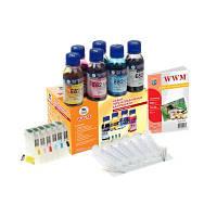 Набор перезаправляемых картриджей WWM для Epson Stylus Photo T50/T59/TX650/TX659 (RC.T082T)