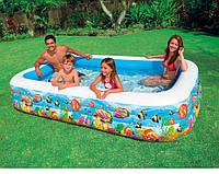 Семейный надувной бассейн Intex 305x183х56 cм  (58485)