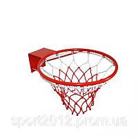 Сетка баскетбольная C-4561 (полипропилен,13 петель, яч. р-р 6x6см, цвет бело-красный, в компл.2шт)