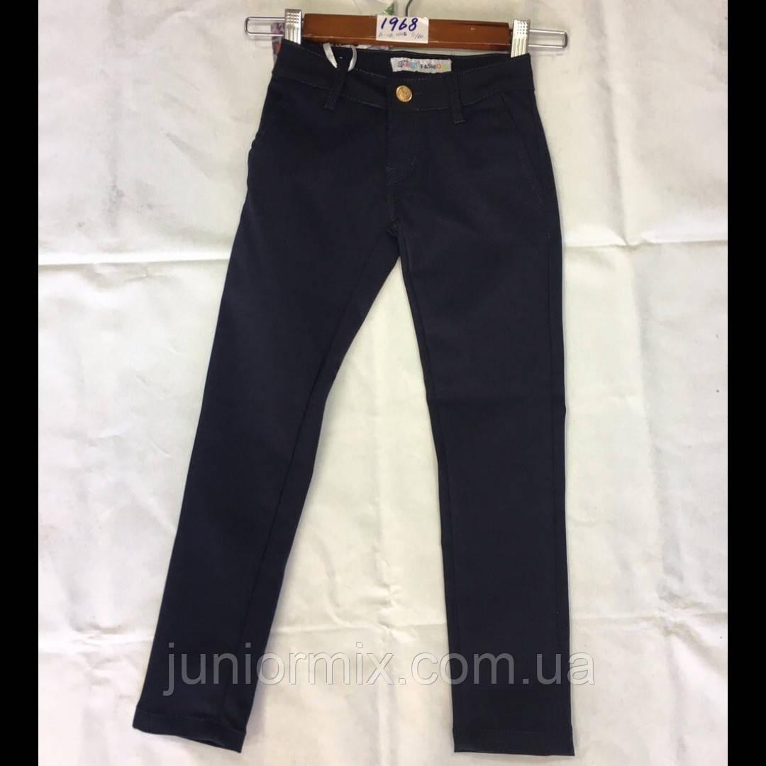 Школьные подростковые брюки для девочек синего цвета оптомF&D