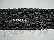 Стрейчевое кружево - И-7,цвет черный