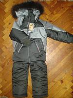 Дитячий зимовий комбінезон (куртка+напівкомбінезон) ріст 116 см і 122 см