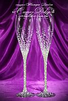 Свадебные бокалы со стразами Сваровски (Греческие), фото 1