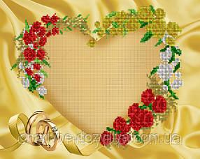 Схема для вышивки бисером рамка С юбилеем свадьбы