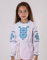 Вышиванка для девочки с геометрическим узором.. Размеры в росте 122-146