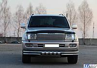 Кенгурятник  Toyota Land Cruiser 100 (03-07) - ус двойной, фото 1