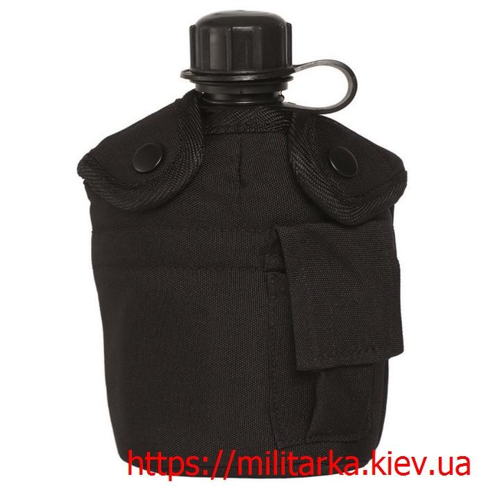 Фляга со стаканом Mil-Tec черная
