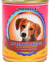 Мясной рацион для собак с индейкой
