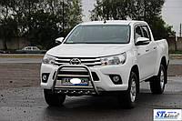 Защита переднего бампера (кенгурятник)  Toyota Hilux (15+), фото 1