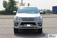 Кенгурятник  Toyota Hilux (15+) - ус двойной, фото 1