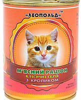 Мясной рацион для котов с кроликом
