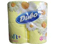Туалетная бумага цветная, желтый Диво СОФТ, 4шт\пач