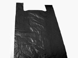 Пакет майка без рисунка Мега Багажка (54*90) черная (50 шт)