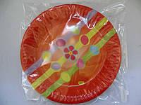 """Картонная тарелка с рисунком 23см """"Рыжая"""",  10шт\пач"""