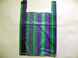 Пакет-майка цветная полоса (38х60) №2, 100шт\уп