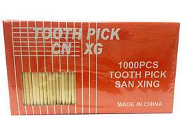 Зубочистка бамбуковая в упаковке, Китай, 1000 шт\пач
