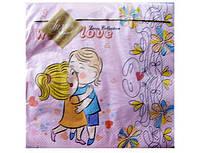 Салфетки бумажные свадебные (ЗЗхЗЗ, 20шт) Luxy  С Любовью (208) (1 пач)