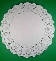 Салфетка ажурная бумажная круглая, диаметр 32см, 100шт\пач