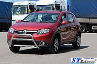 Защита переднего бампера (кенгурятник)  Renault Sandero Stapway (13+), фото 1